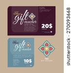 gift voucher thailand style or... | Shutterstock .eps vector #270093668