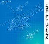 military helicopter isometric... | Shutterstock .eps vector #270101030