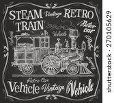 Steam Train Vector Logo Design...