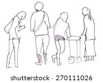 instant sketch  people in... | Shutterstock . vector #270111026