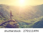 woman doing yoga in the... | Shutterstock . vector #270111494