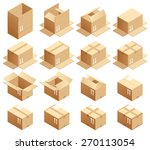 cardboard box  assembled way | Shutterstock .eps vector #270113054