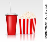 popcorn and a drink. raster... | Shutterstock . vector #270117668