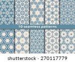 set of ten geometric seamless... | Shutterstock .eps vector #270117779