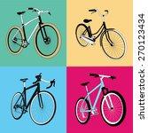 Pop Art Bicycles Vector Art
