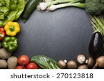 arrangement of mixed colorful... | Shutterstock . vector #270123818
