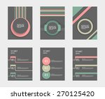 business brochure template.... | Shutterstock .eps vector #270125420