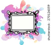 frame for text or photo on... | Shutterstock .eps vector #270126059