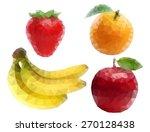 fruit polygon | Shutterstock .eps vector #270128438