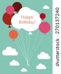 happy birthday  illustration of ... | Shutterstock .eps vector #270137240