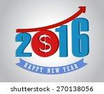 money growth of 2016. happy new ... | Shutterstock .eps vector #270138056