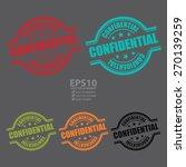vector   confidential stamp ... | Shutterstock .eps vector #270139259