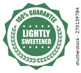 green lightly sweetened 100 ... | Shutterstock . vector #270139784