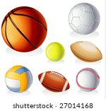 vector detailed sport equipment ... | Shutterstock .eps vector #27014168