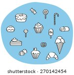 set of quality dessert icons   Shutterstock .eps vector #270142454