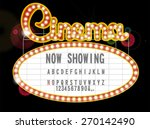 cinema sign | Shutterstock .eps vector #270142490