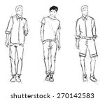 sketch. handsome stylish man... | Shutterstock .eps vector #270142583
