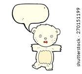 cartoon shocked polar bear cub...   Shutterstock .eps vector #270151199