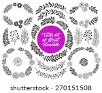 vector set of floral frames and ...