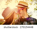 couple in love smilling | Shutterstock . vector #270154448