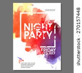 summer night beach party vector ... | Shutterstock .eps vector #270157448