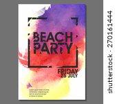 summer beach party vector flyer ... | Shutterstock .eps vector #270161444