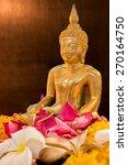 the golden buddha statue for... | Shutterstock . vector #270164750
