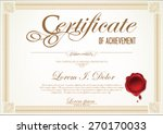 certificate template   Shutterstock .eps vector #270170033