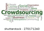 crowdsourcing word cloud | Shutterstock . vector #270171260
