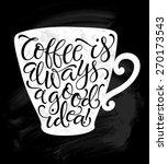 vector illustration of coffee... | Shutterstock .eps vector #270173543