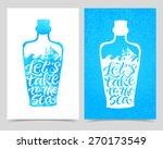 Vector Illustration Of Bottle...