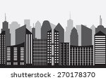 city panorama on gray background | Shutterstock .eps vector #270178370