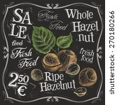 whole hazelnut vector logo... | Shutterstock .eps vector #270180266