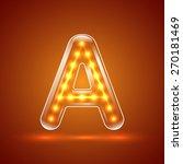 glowing font.illuminated... | Shutterstock .eps vector #270181469