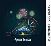 amusement park with fireworks   Shutterstock .eps vector #270183560