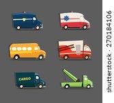 vector set of urban vehicles... | Shutterstock .eps vector #270184106