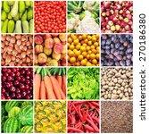 huge collage of various healthy ... | Shutterstock . vector #270186380