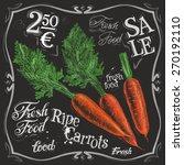 Ripe Carrots Vector Logo Desig...