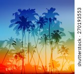 vector palms silhouettes vector ... | Shutterstock .eps vector #270193553