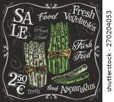 ripe asparagus vector logo... | Shutterstock .eps vector #270204053