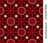 black ajrak vector pattern | Shutterstock .eps vector #270207980