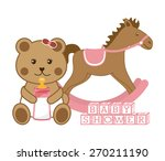 baby shower design  vector... | Shutterstock .eps vector #270211190