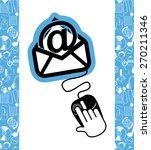 email concept design  vector... | Shutterstock .eps vector #270211346