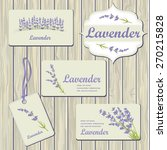 lavender cards and labels on... | Shutterstock .eps vector #270215828
