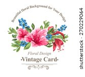 invitation vintage card with... | Shutterstock .eps vector #270229064