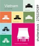 landmarks of vietnam. set of... | Shutterstock .eps vector #270229289