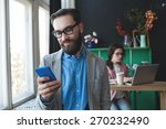 young businessman in glasses... | Shutterstock . vector #270232490