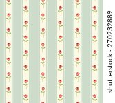 Retro Pattern With Shabby Chic...
