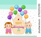 birthday. holiday in children.... | Shutterstock .eps vector #270235190