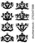 black heraldic banner collection   Shutterstock .eps vector #270247388